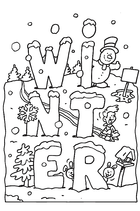 - Free Printable Winter Coloring Pages For Kids