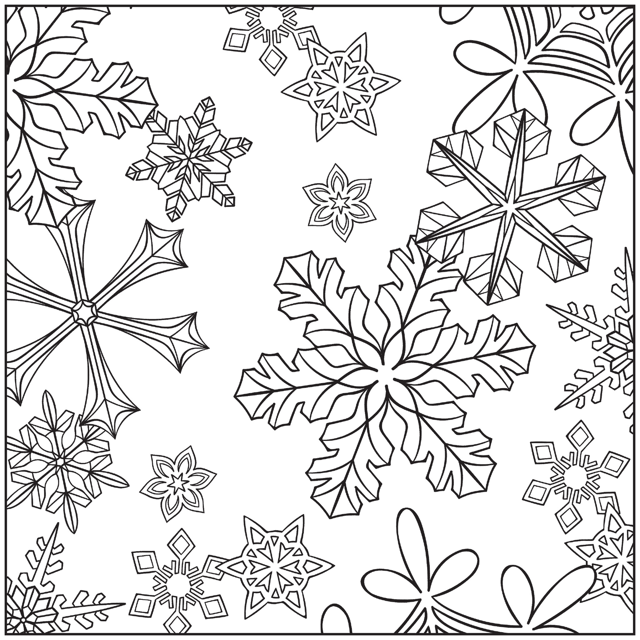 snow coloring pages free - photo#29
