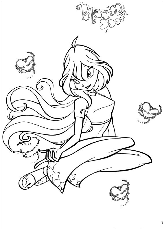 Winx Club Believix Coloring Pages