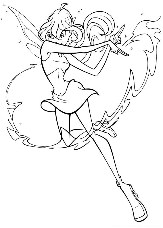 Winx Club Coloring Pages Believix