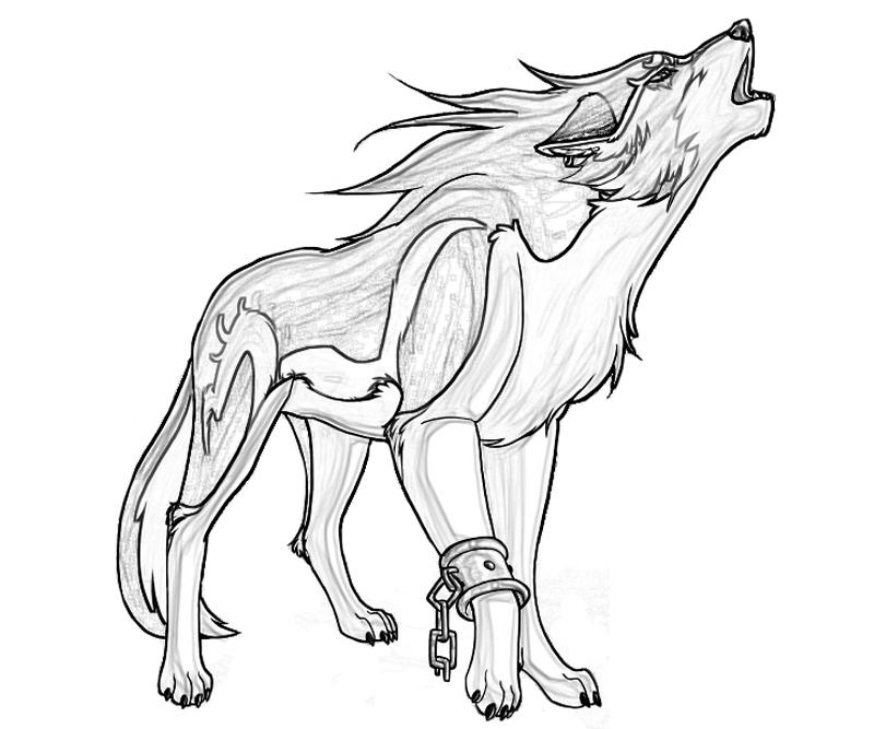christmas wolf coloring pages | Free Printable Wolf Coloring Pages For Kids