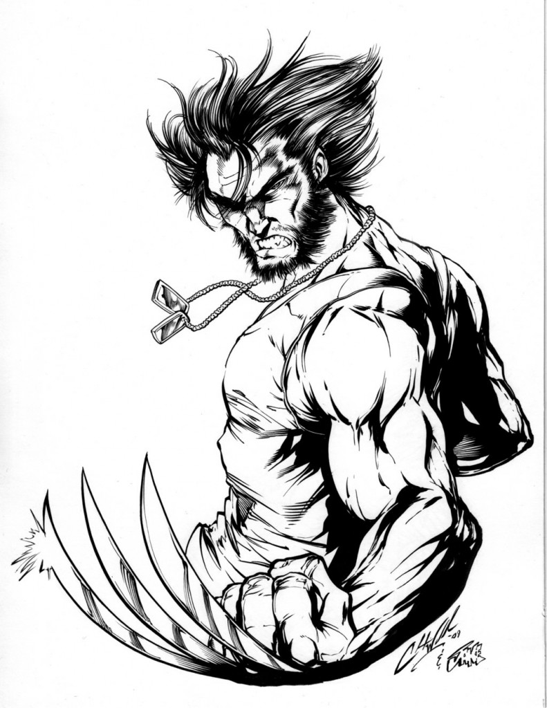 Wolverine Coloring Pages Online