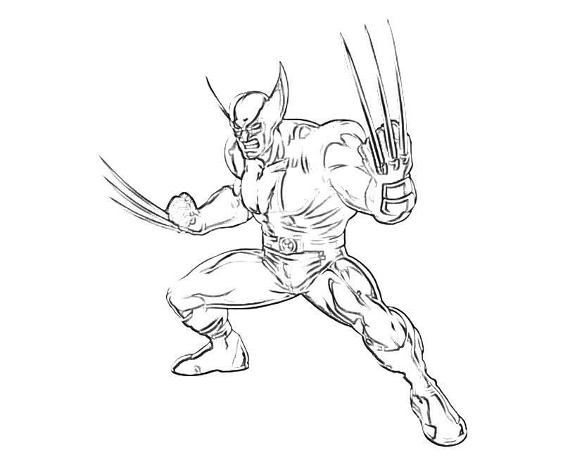 Free Printable Wolverine Coloring