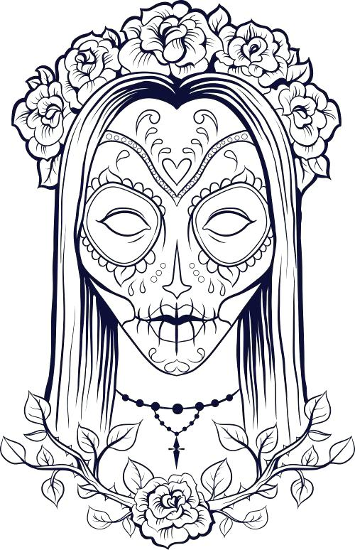 - Free Printable Skull Coloring Pages For Kids