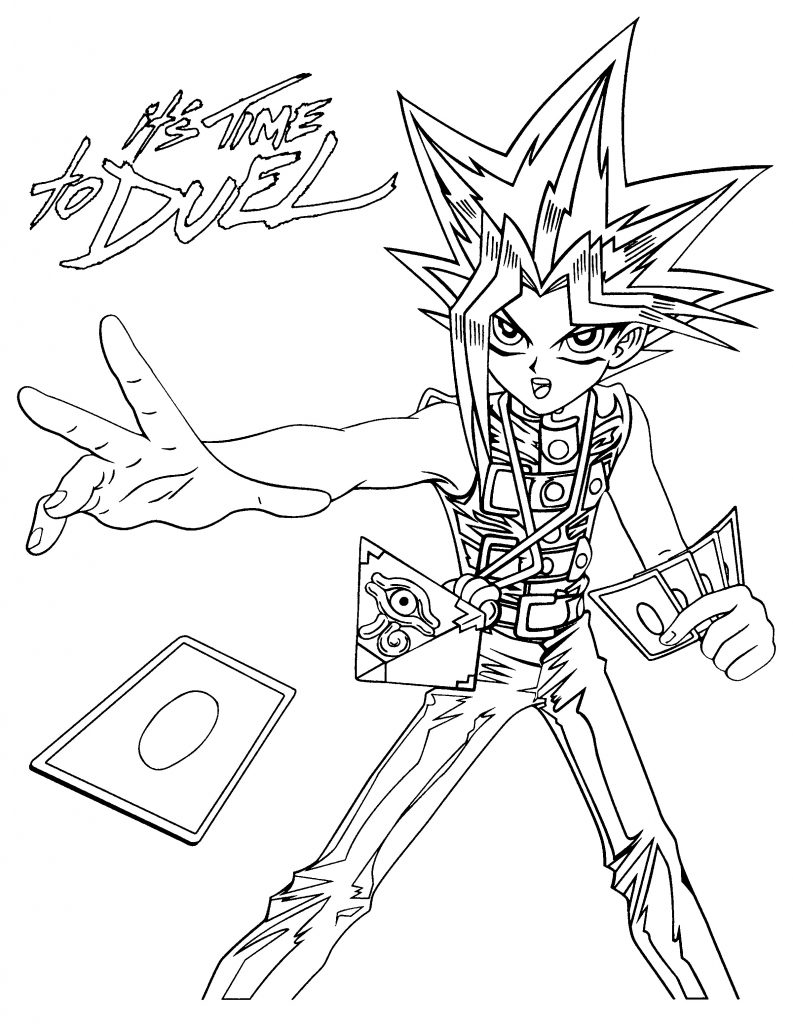 Yugioh Time to Duel Coloring Pages
