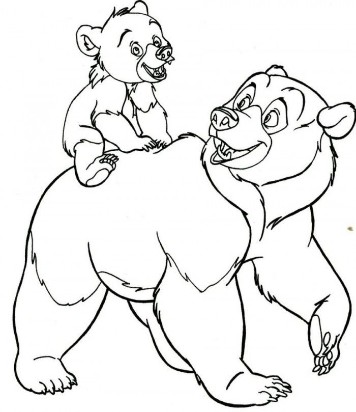 Baby Bear Coloring Page
