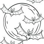Bats Flying Coloring Page