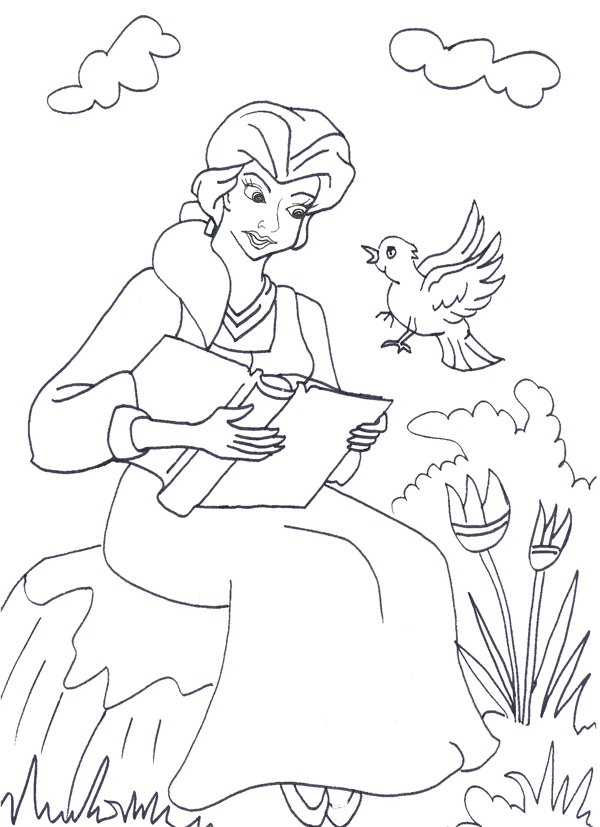 Disney Princess Belle Coloring Pages - Coloring Home | 827x600