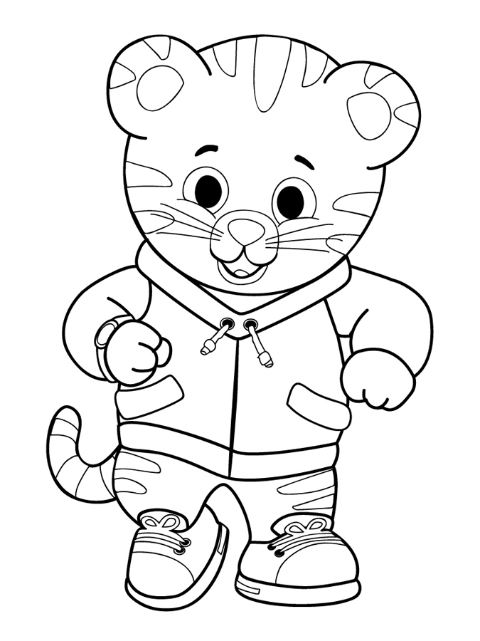 Cute Daniel Tiger Coloring Page