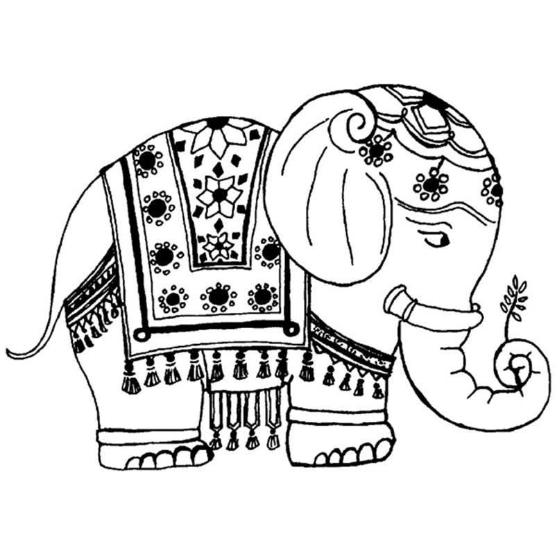 Indian Elephant Coloring Page