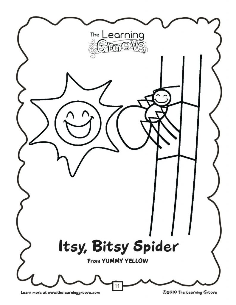 itsy bitsy spider coloring pages - photo#21