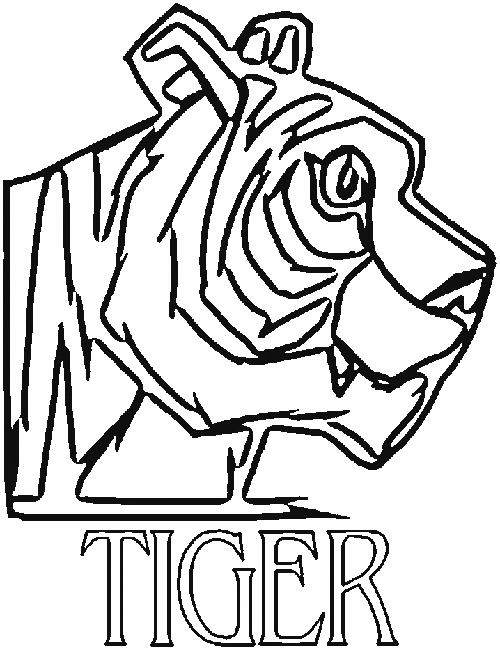 Tiger Coloring Sheet