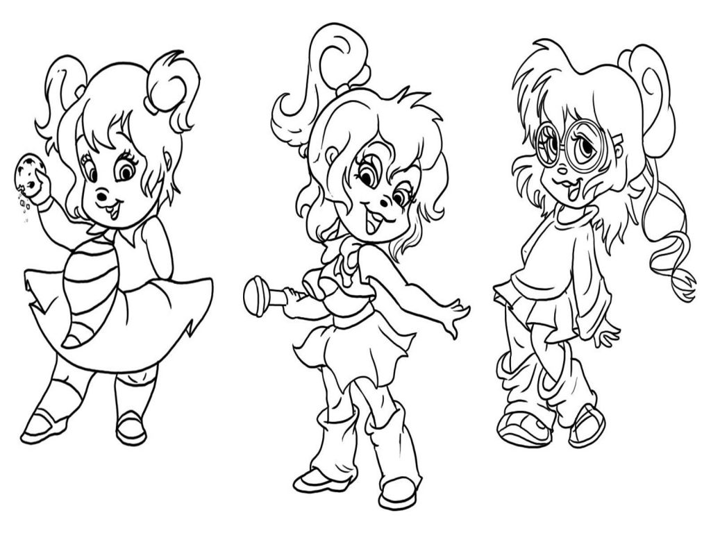 Alvin and The Chipmunks Chipettes Coloring Pages