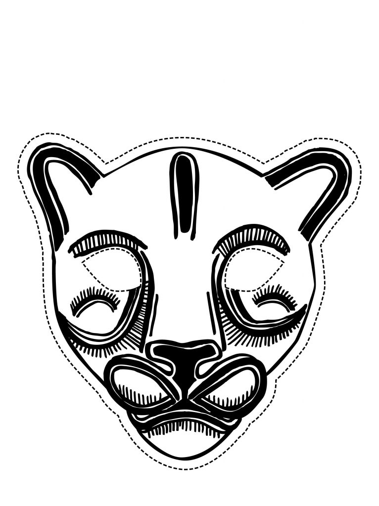 Free Printable Mask Coloring Pages