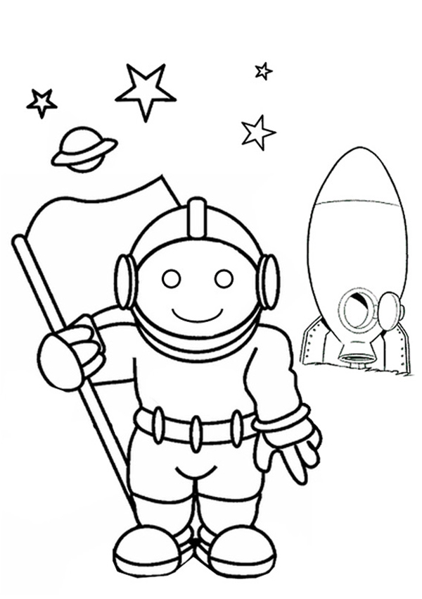 photo relating to Astronaut Printable titled No cost Printable Astronaut Coloring Internet pages For Small children