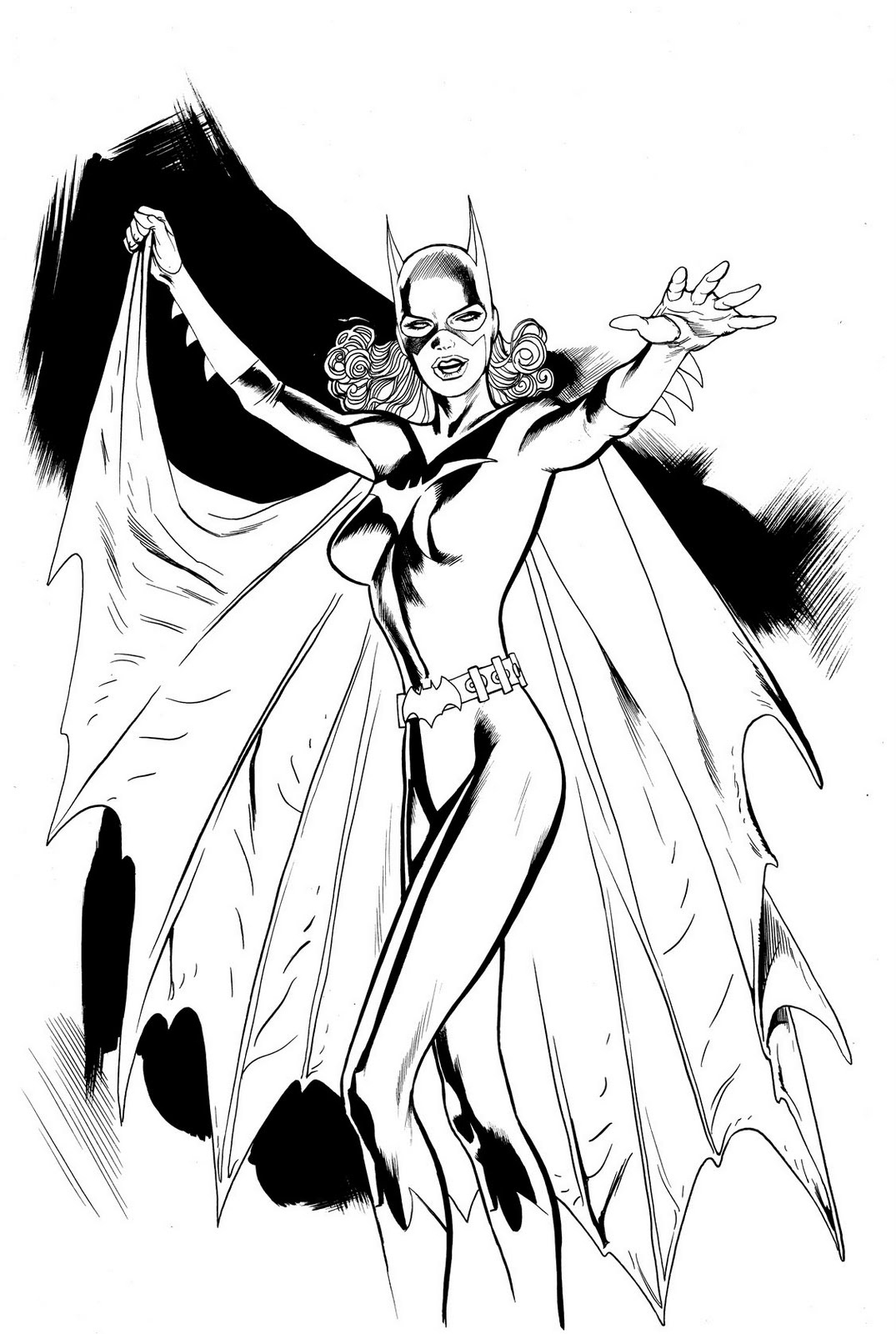 Batgirl coloring pages printable ~ Free Printable Batgirl Coloring Pages For Kids