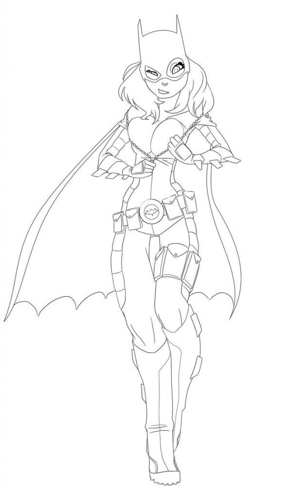 Batgirl Coloring Pages For Kids