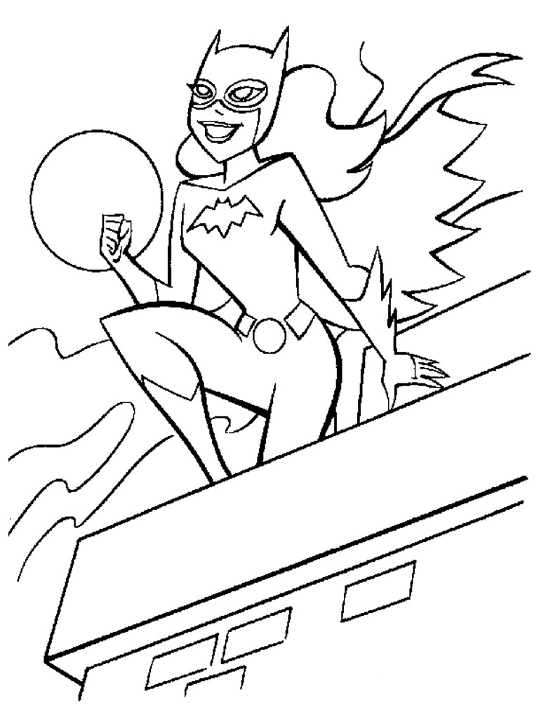Line Art Year 2 : Free printable batgirl coloring pages for kids