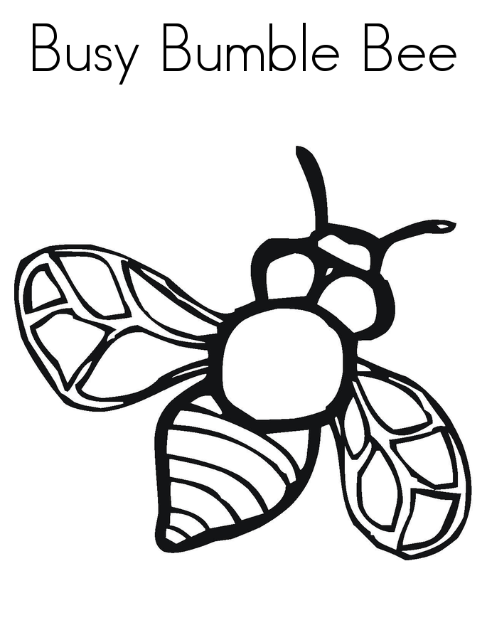free bee coloring pages - photo#17