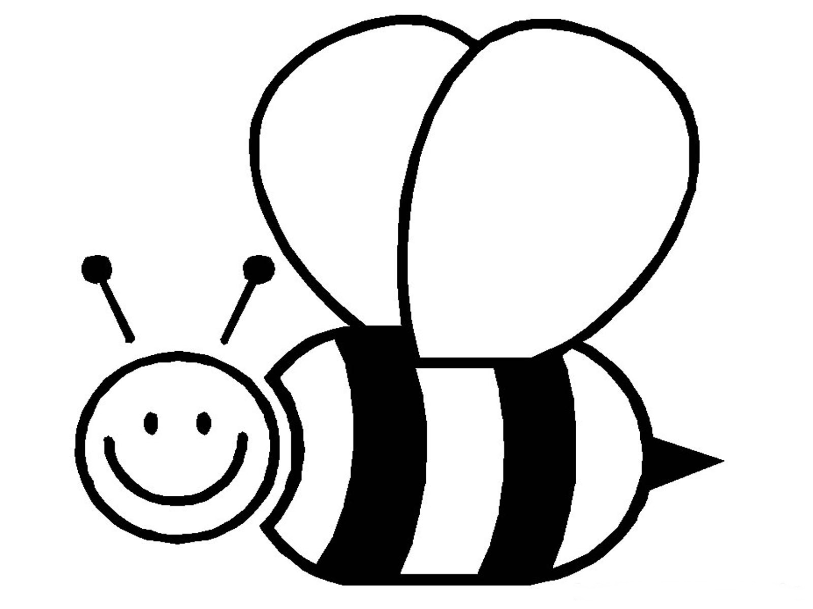 free bee coloring pages - photo#4