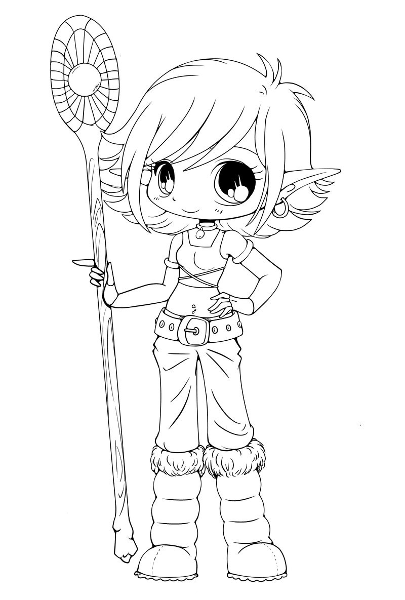 Line Art Year 2 : Free printable chibi coloring pages for kids