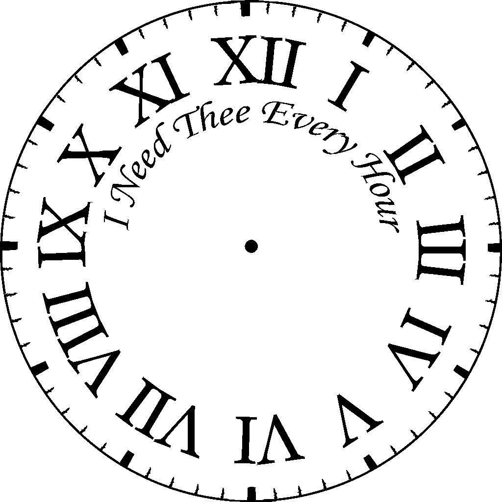 Line Drawing Of Clock Face : Free printable clock coloring pages for kids