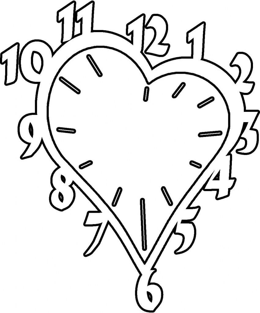 Clock Coloring Pages Pictures