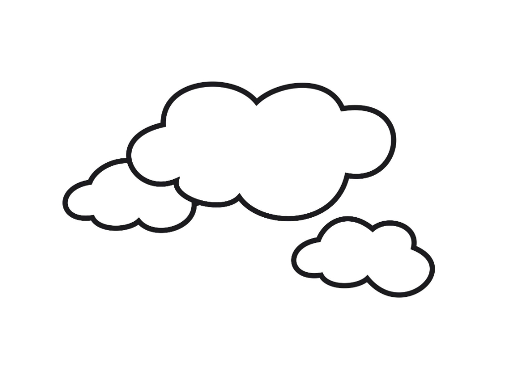 image relating to Printable Cloud identify Absolutely free Printable Cloud Coloring Web pages For Small children