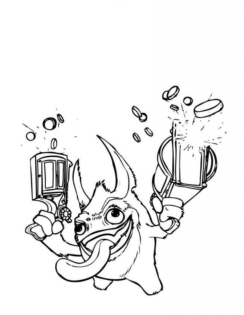 Coloring Pages Skylanders Giants