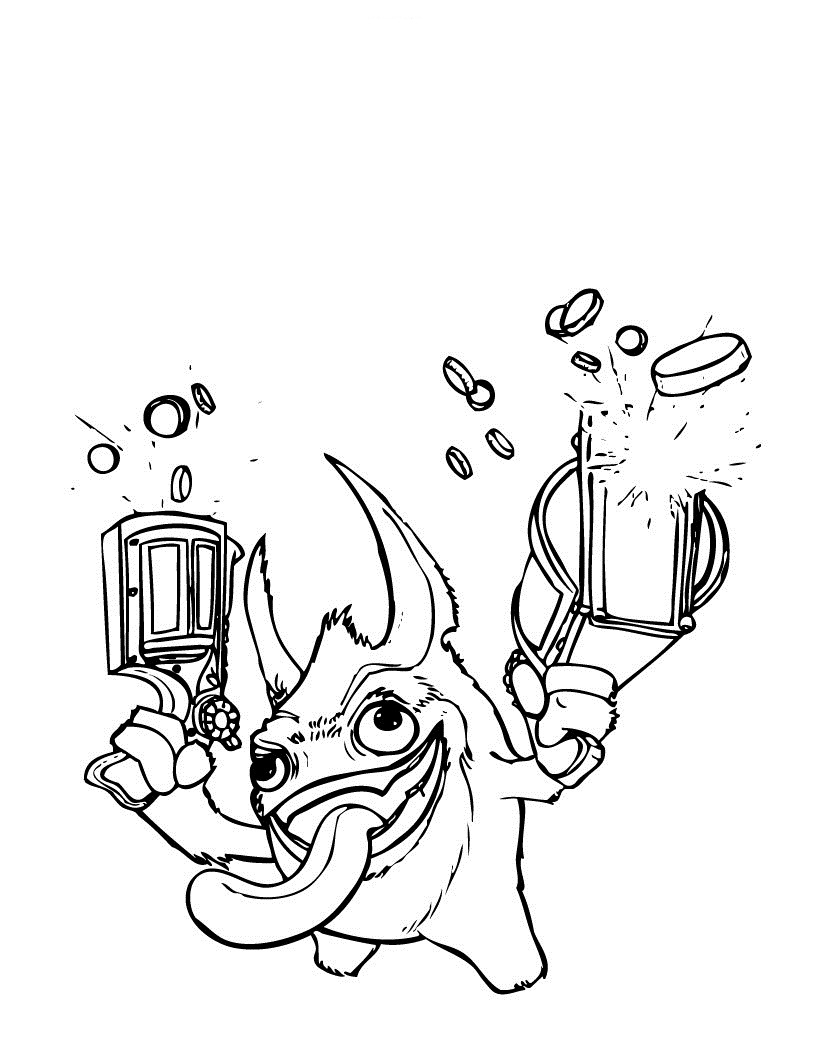 graphic about Skylanders Printable Coloring Pages named Totally free Printable Skylander Giants Coloring Webpages For Youngsters