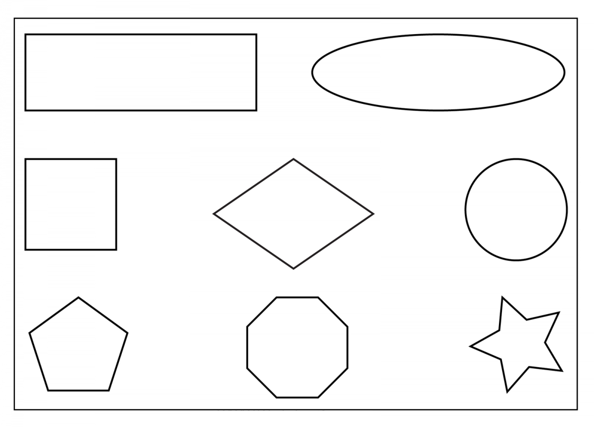 Free printable shapes coloring pages for kids for Shape tracing templates