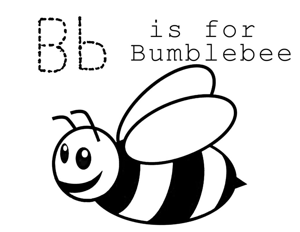 Free Printable Bumble Bee Coloring