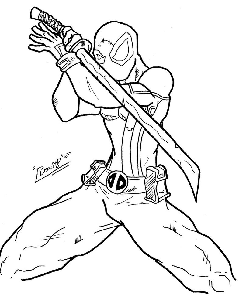 Nice Coloring Pages Of Deadpool