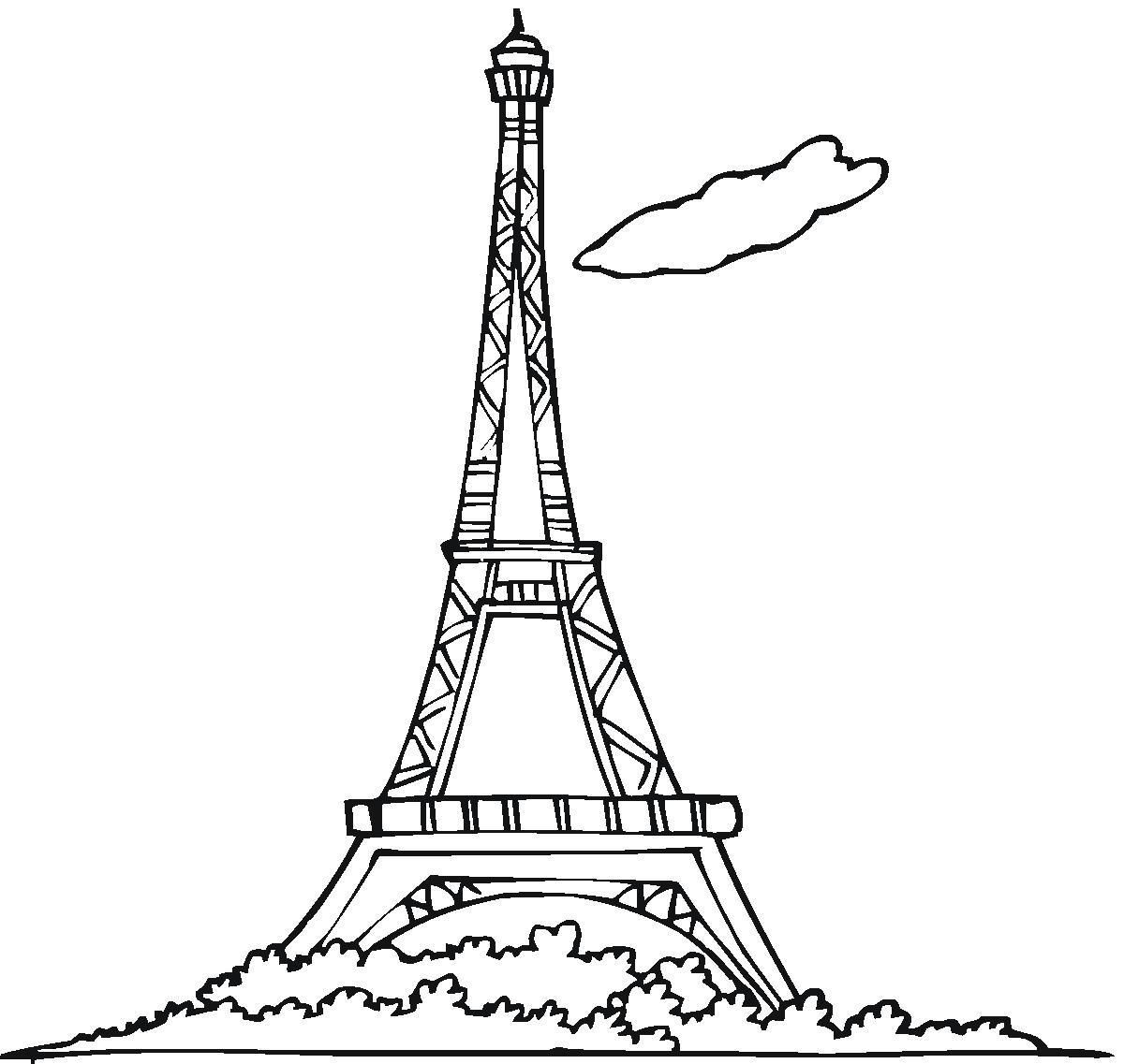 Paris Eiffel Tower Coloring Pages