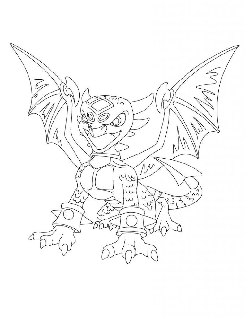 Coloring Pages of Skylanders Giants