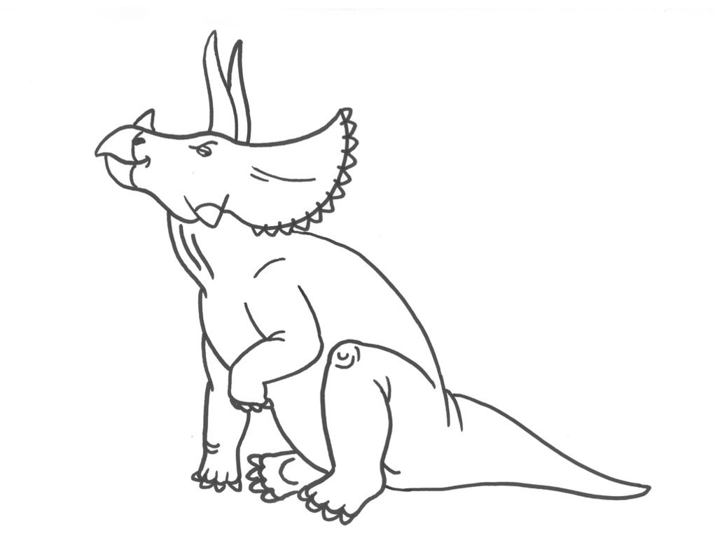 Coloring Pages of Triceratops