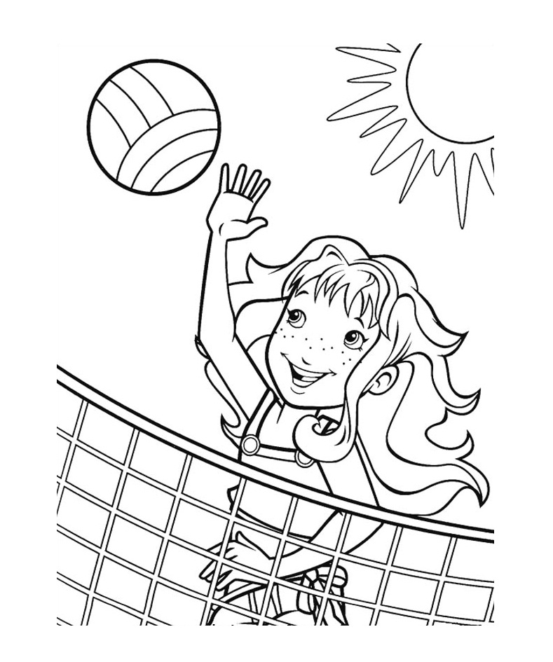 Free Printable Volleyball Coloring