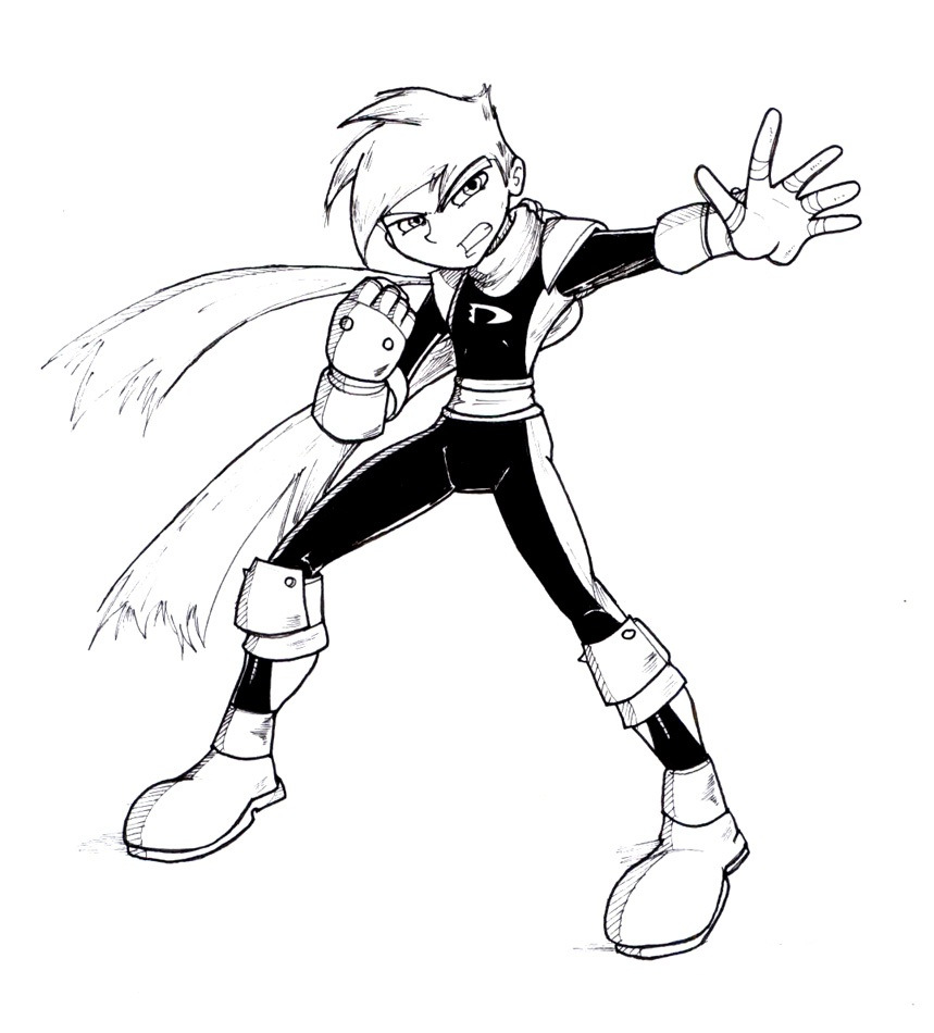 Danny Phantom Coloring Pages For Kids