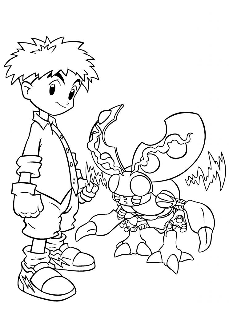 Digimon Coloring Pages For Kids