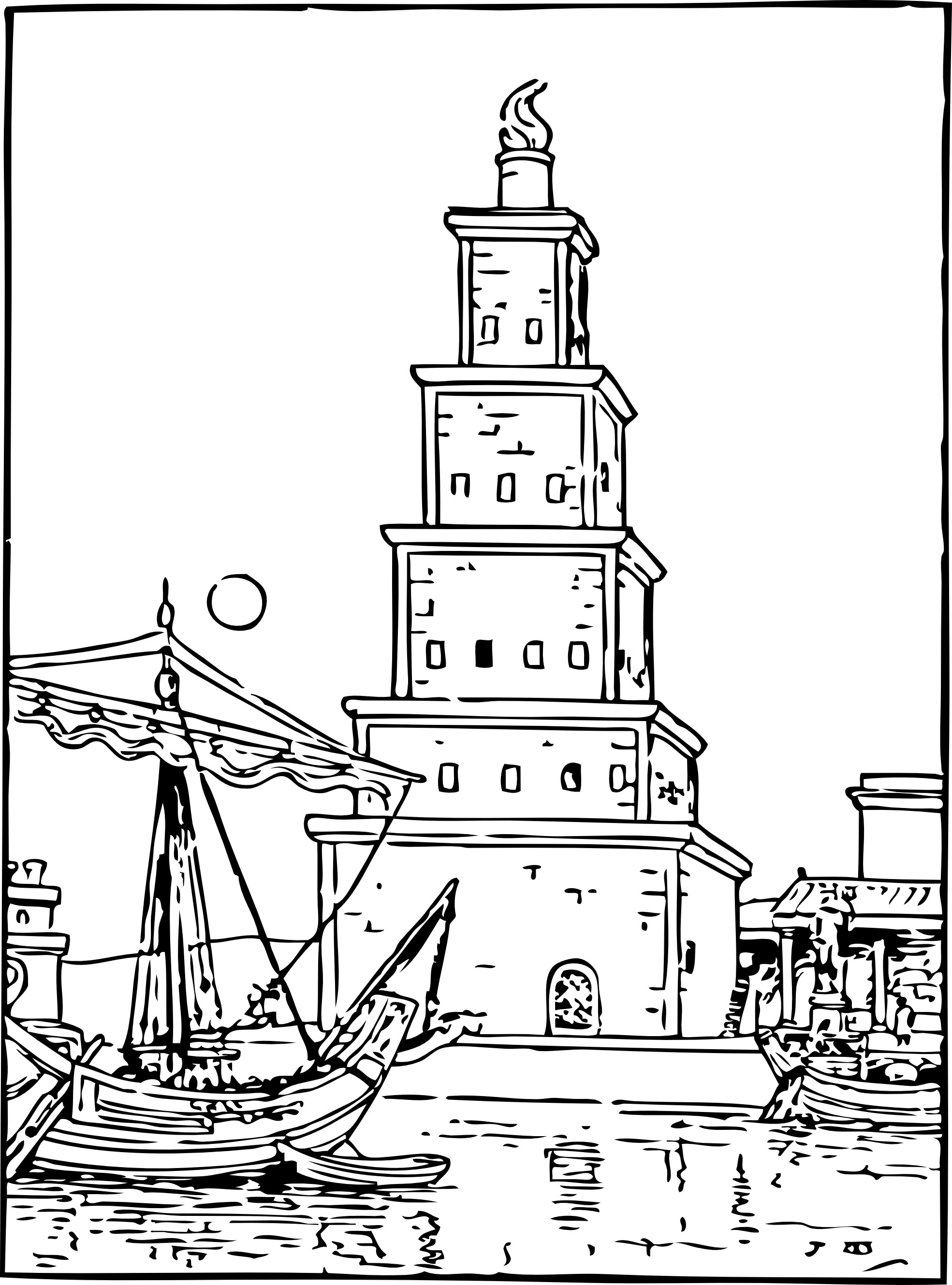 Download Lighthouse Coloring Pages
