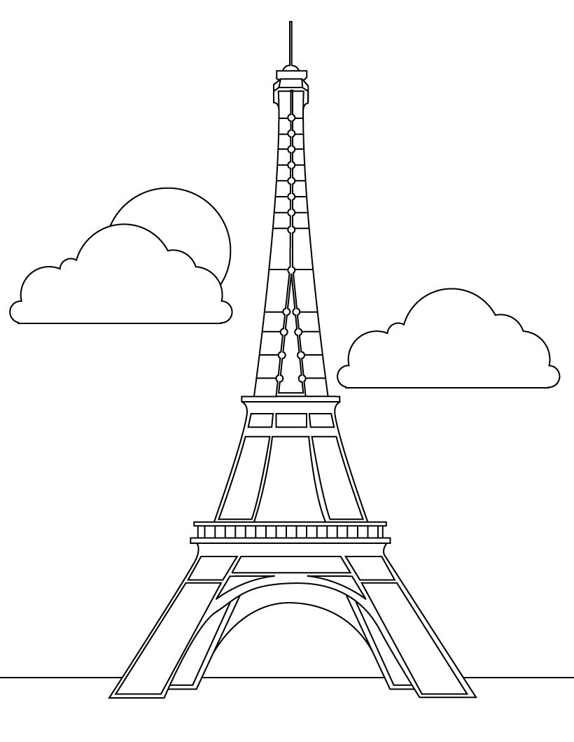 Free printable eiffel tower coloring pages for kids eiffel tower coloring pages altavistaventures Image collections