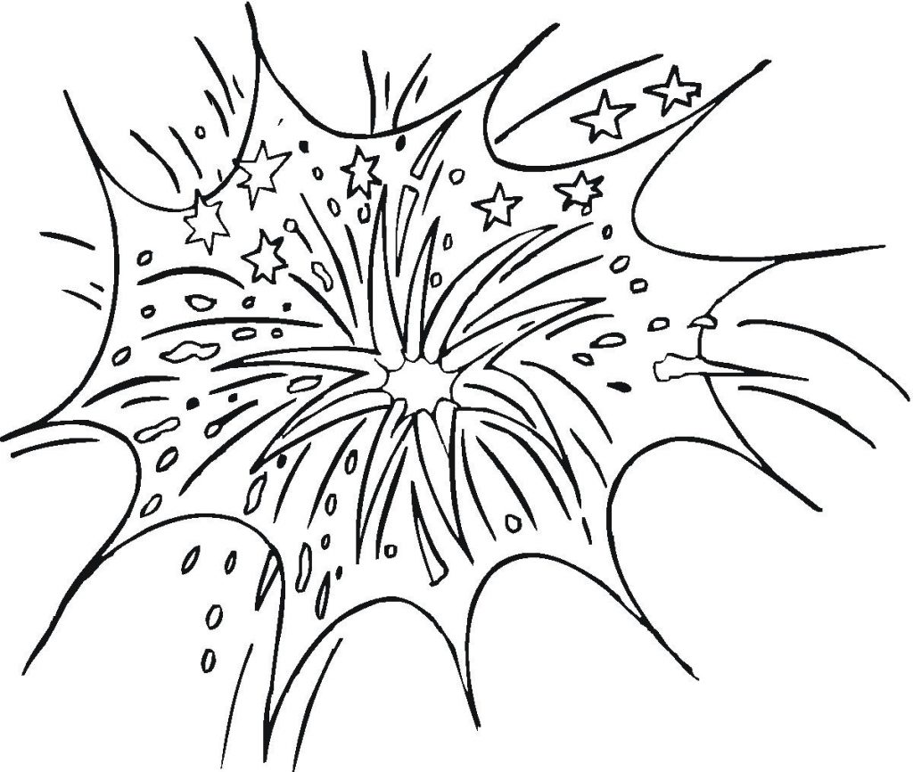 Fireworks Coloring Pages Free Printable