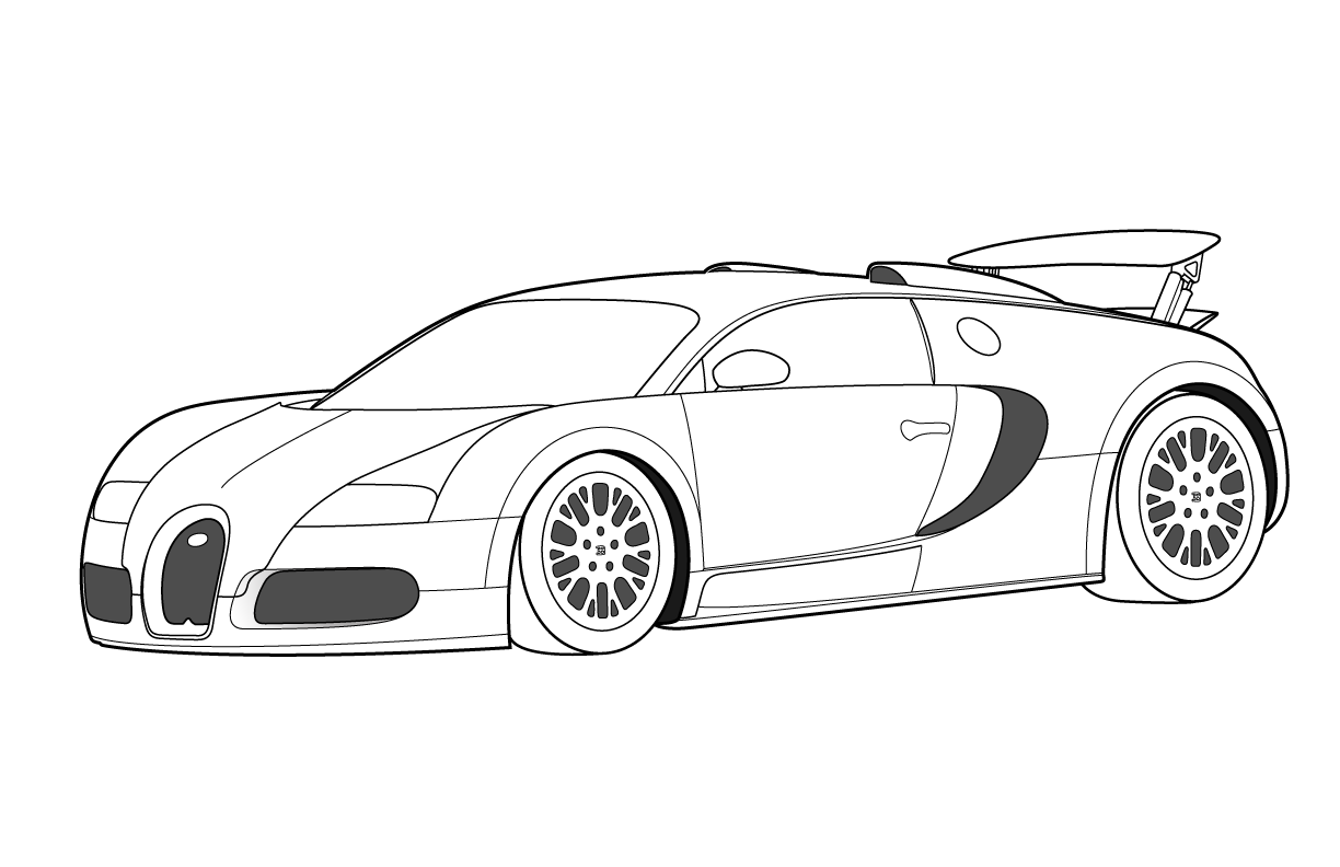 Free printable bugatti coloring pages for kids for Free cars coloring pages to print