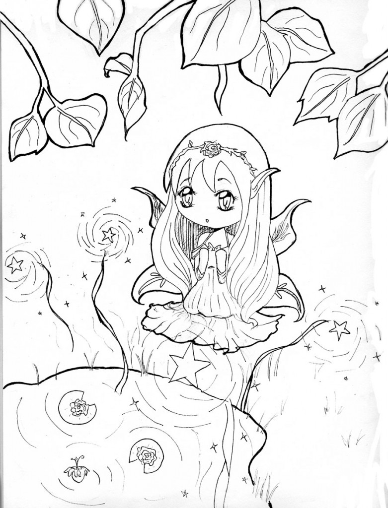 Free Chibi Coloring Pages