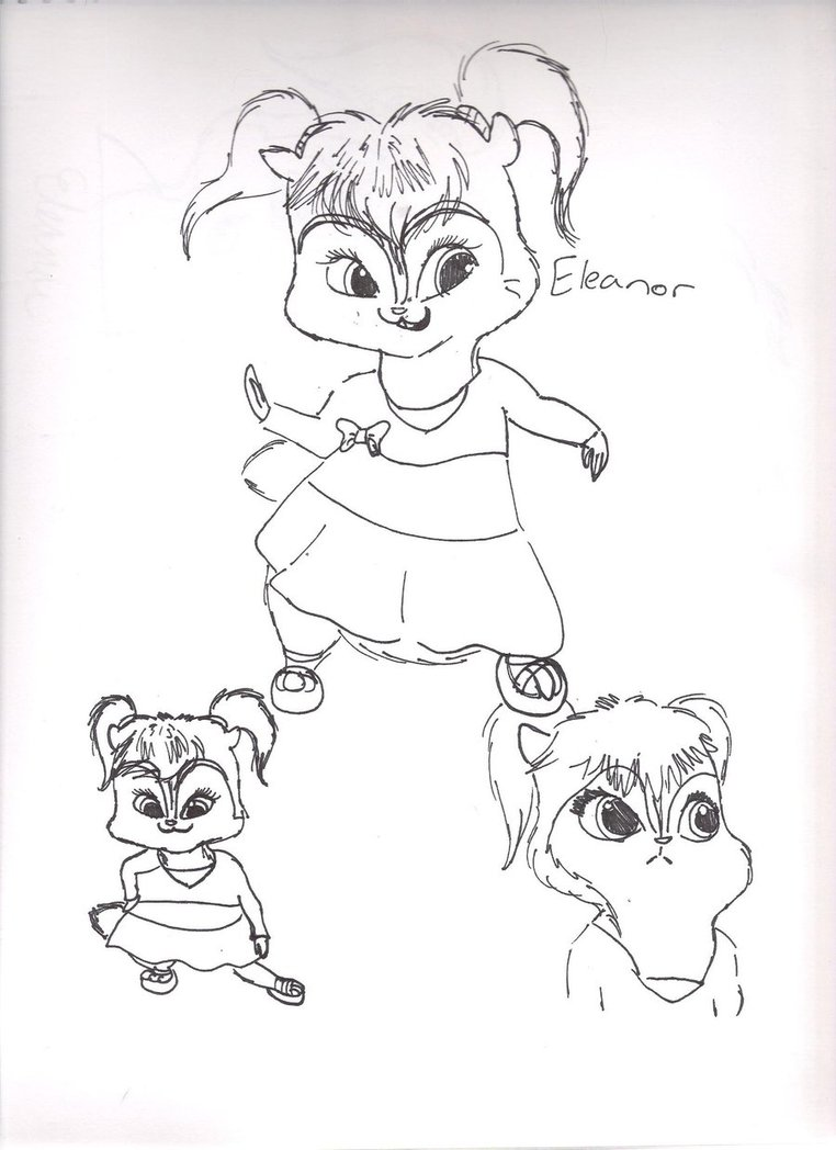 Free Printable Chipettes Coloring