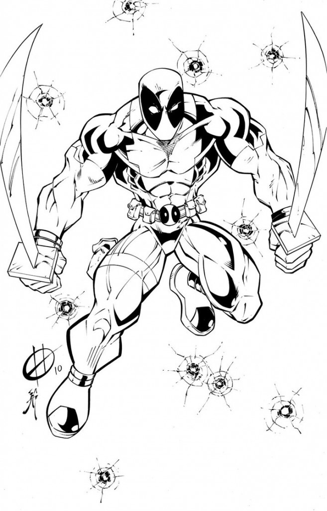 Free Coloring Pages of Deadpool