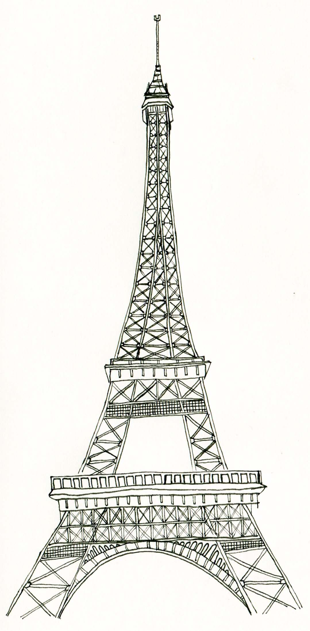 graphic regarding Printable Eiffel Tower identified as No cost Printable Eiffel Tower Coloring Webpages For Small children