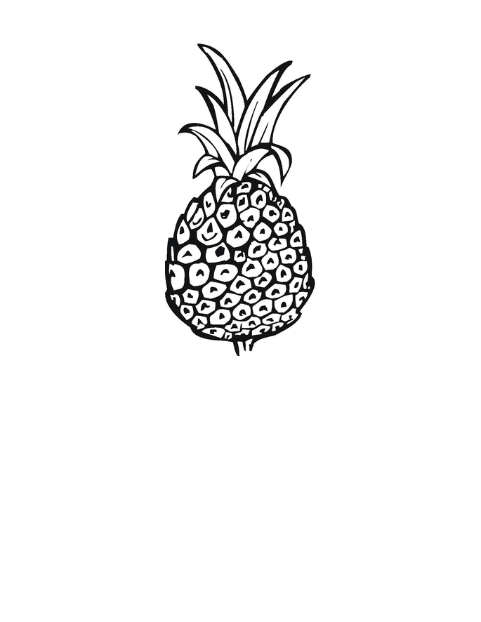 Free Coloring Pages of Pineapple