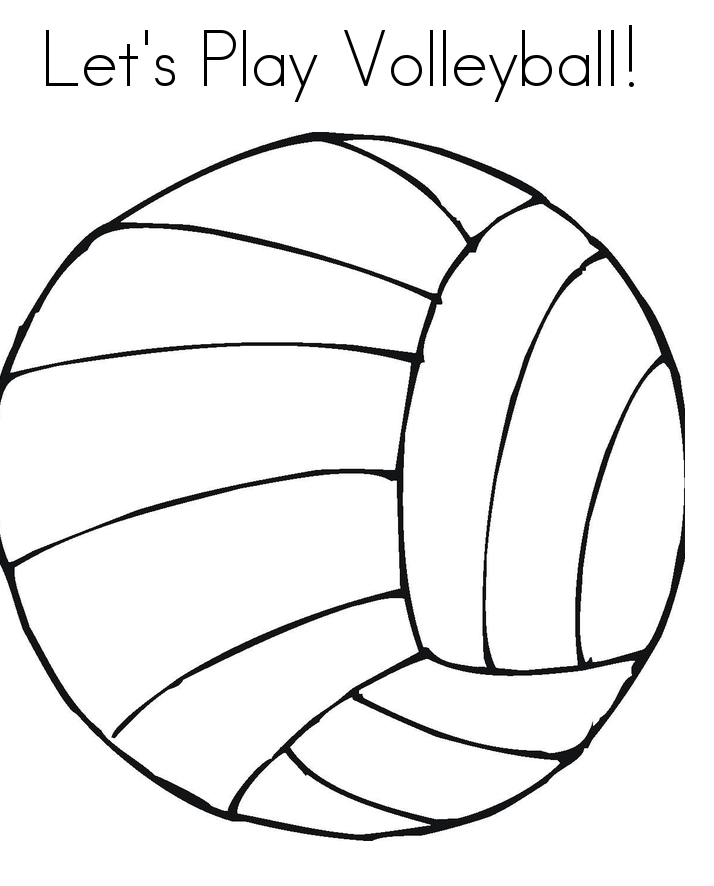 Free Coloring Pages of Volleyball