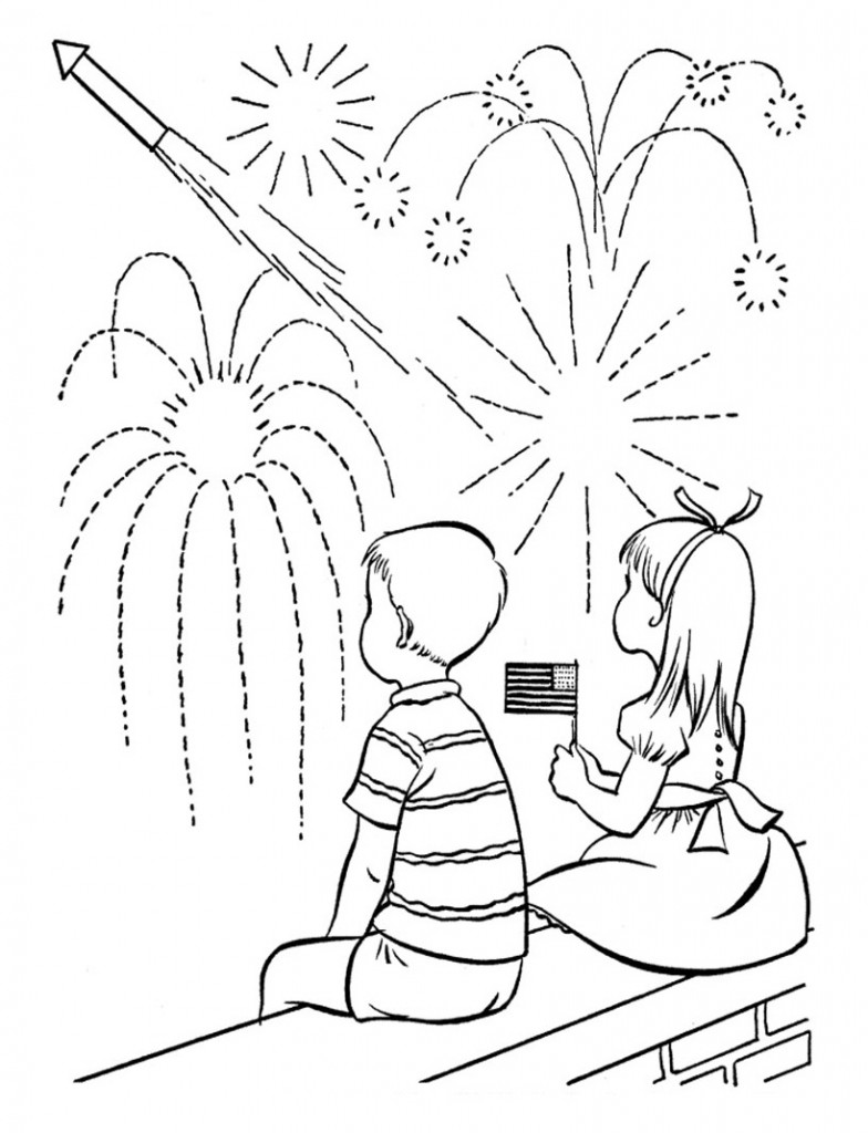 Free Fireworks Coloring Pages